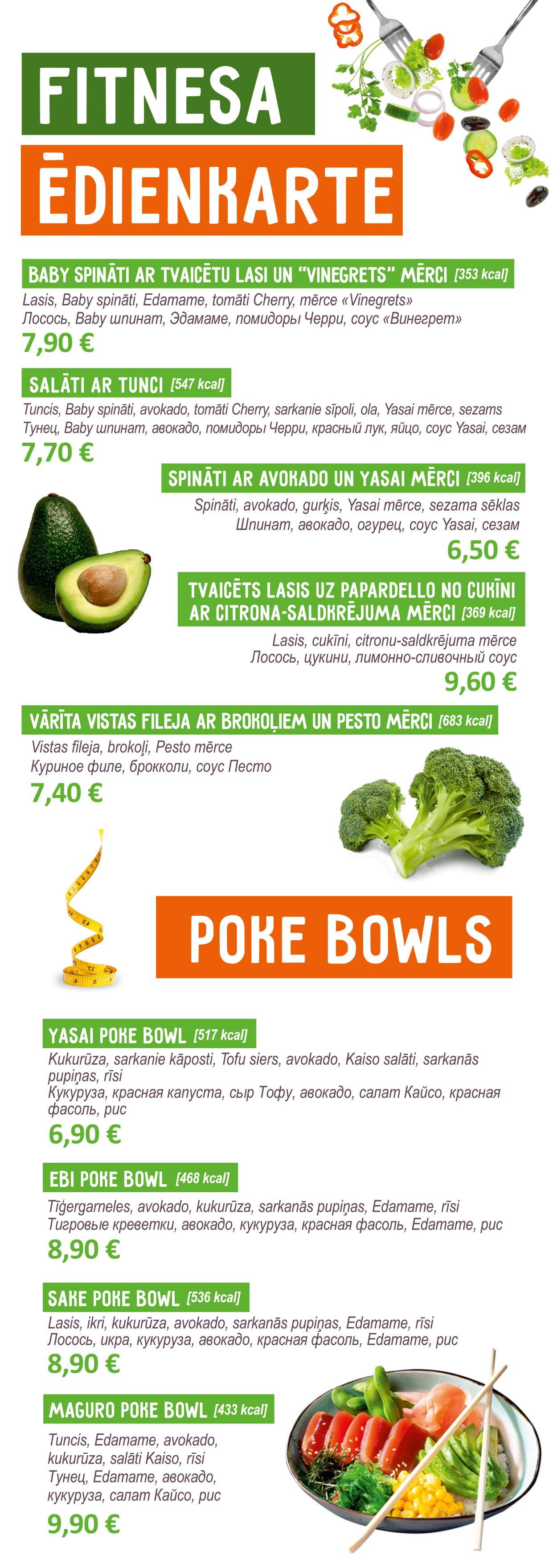 Fitness menu Bento