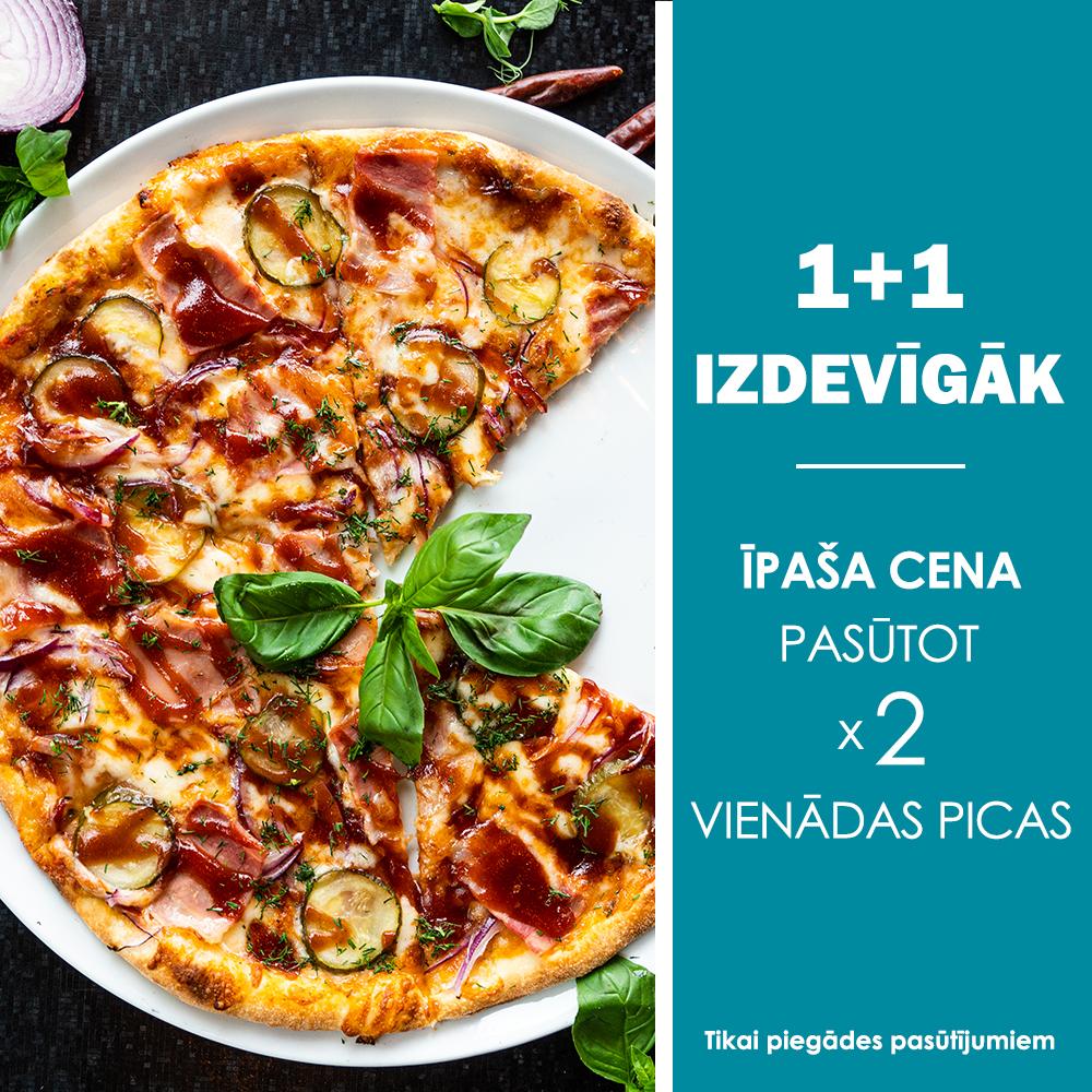 Īpaša cena pasūtot 2 vienādas picas