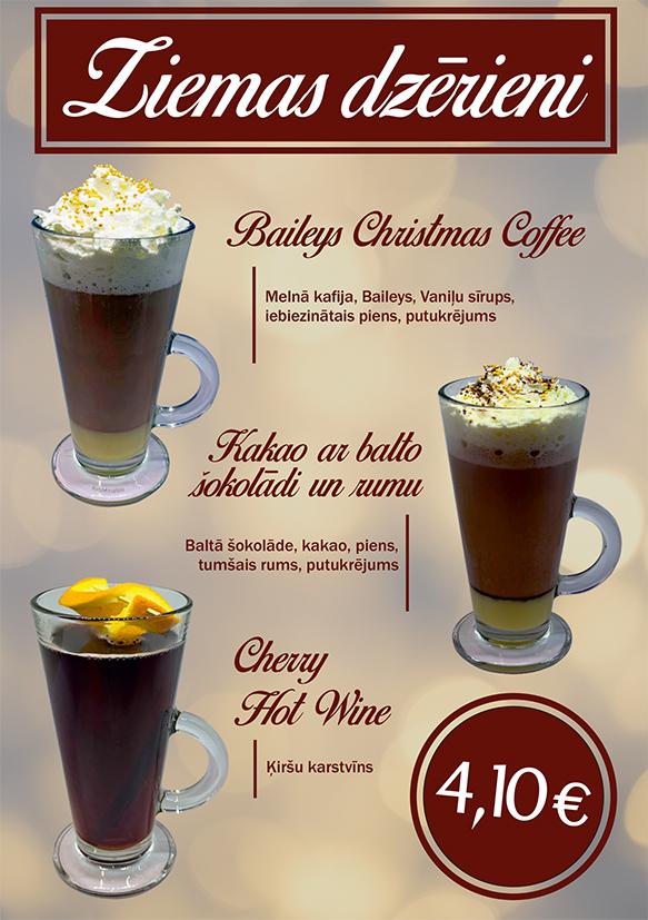 Ziemas dzērieni restorānos Bento