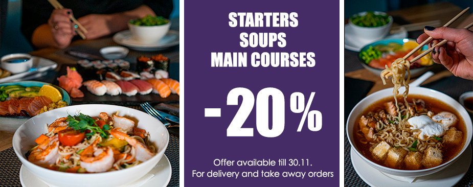 20% off to whole menu