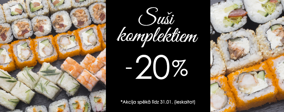 Sushi sets 20% off