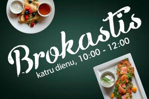 Breakfast menu. Every day from 10:00 till 12:00.