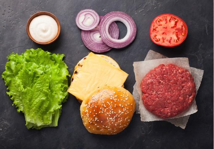 DIY beef burger kit