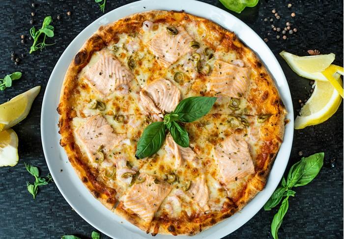 Pizza Salmone Gamberetti (32 cm)