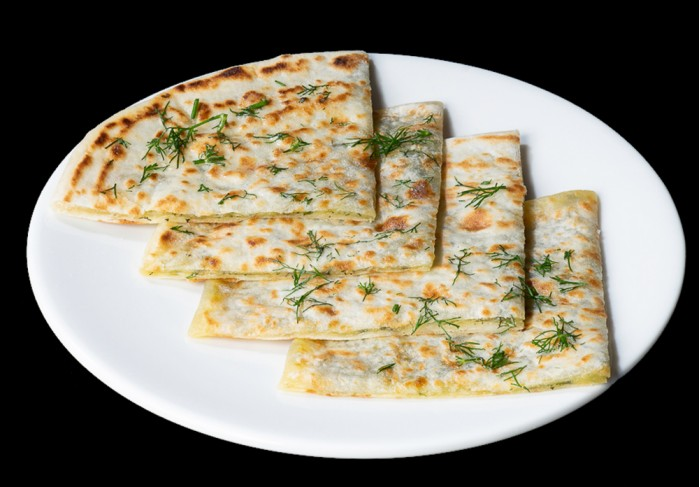 Bread with cheese and dill