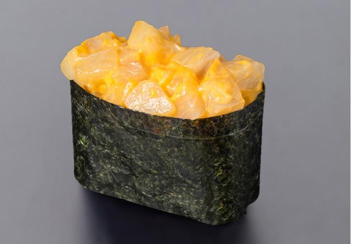 Spicy Hamachi nigiri (1 pcs.)
