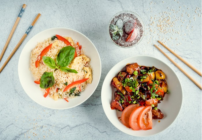 Set - Thai rice, Chicken, Tiramisu