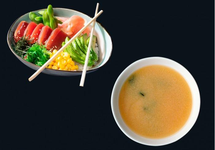 Tuna Poke Bowl & Miso soup