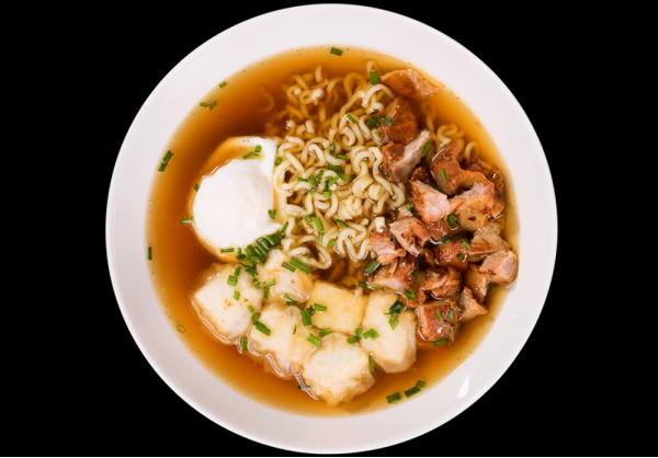 Ramen soup American style